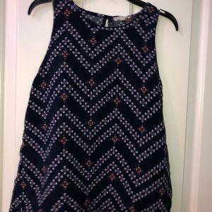 flowy blouse tank top